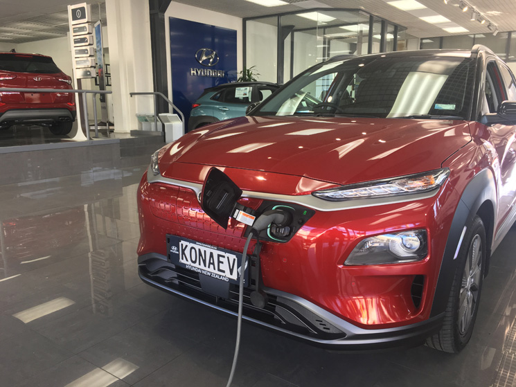 2018 hyundai kona ev plugged