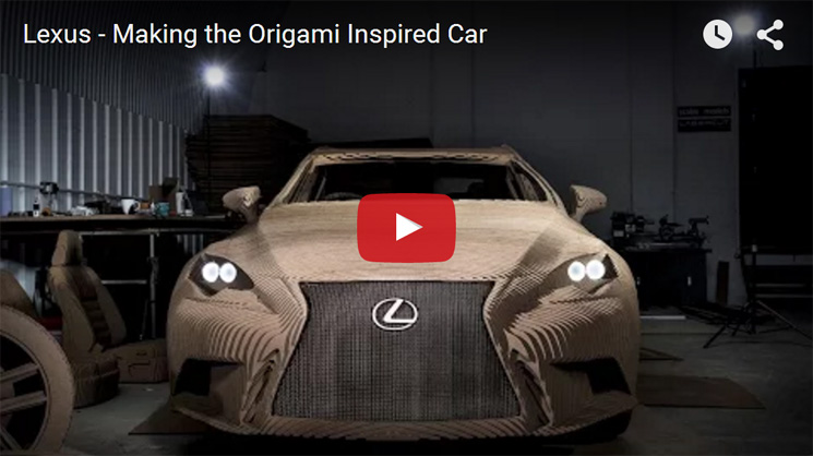 Making the Lexus origami car