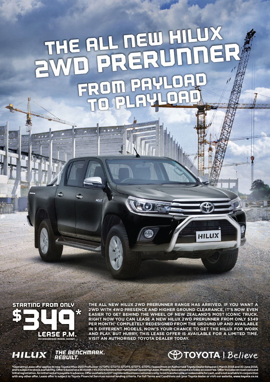Hilux Pre Runner Lease