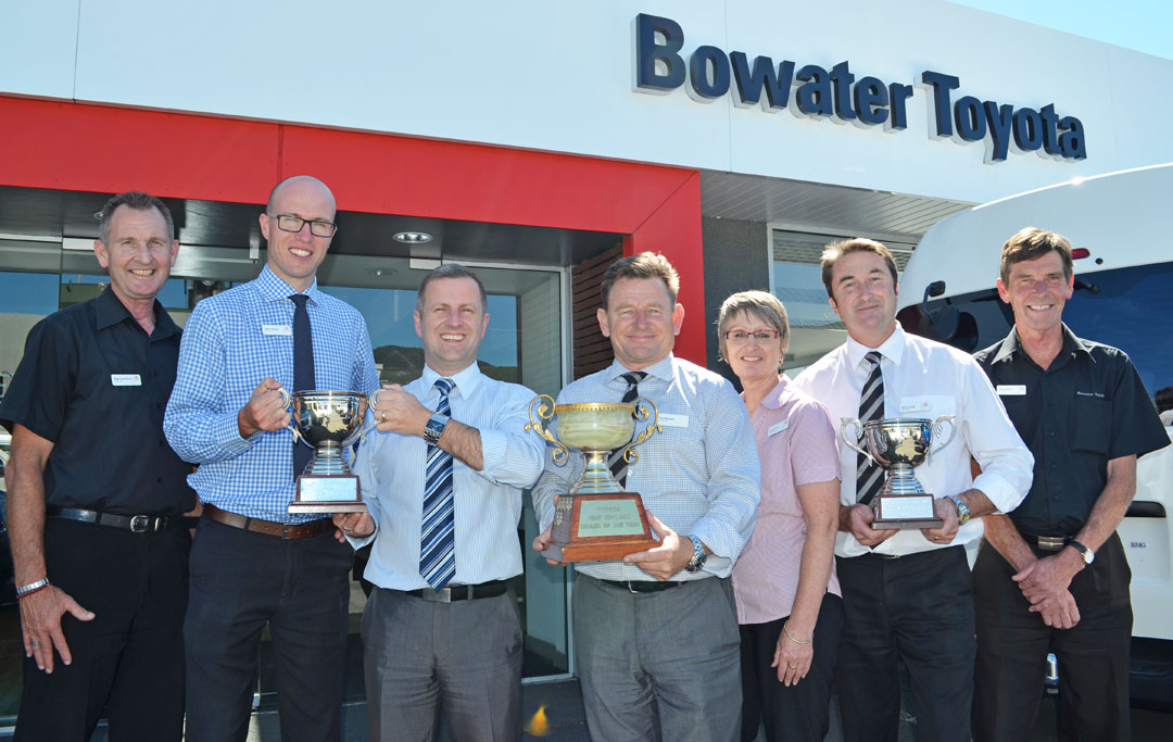 The successful Bowater Toyota team